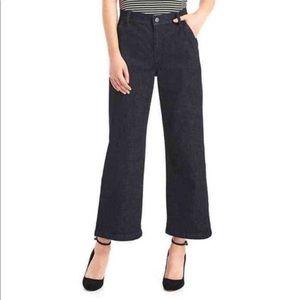 GAP super high rise wide leg crop trouser jeans